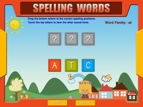 ABC First Phonics - Word Families HD Free Lite iPad Screenshot 4
