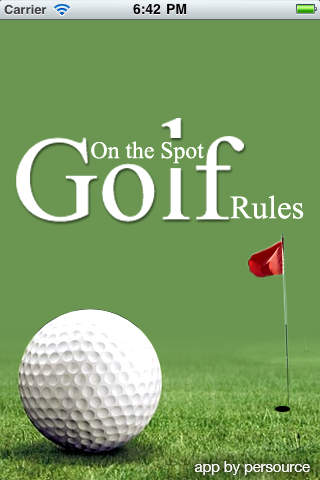 On the Spot Golf Rules
