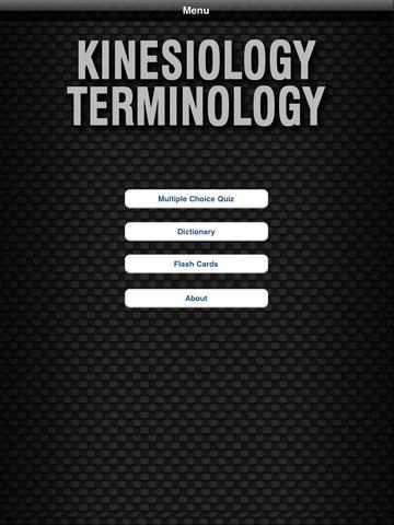 Kinesiology Terminology - HD