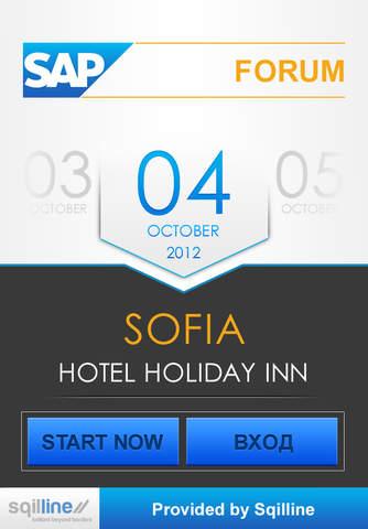 SAP Forum Sofia 2012