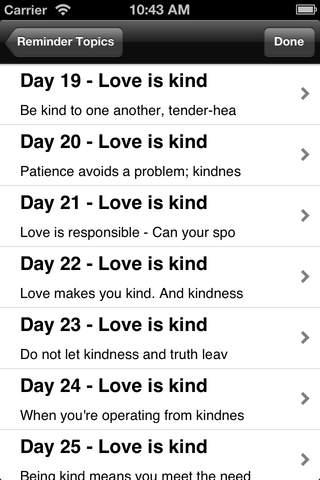 The Love Dare: Reminders iPhone Screenshot 4