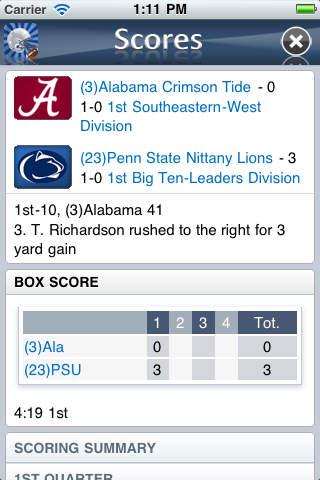College Football News iPhone Screenshot 4