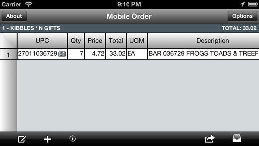 Order-In-Hand tm Mobile Order