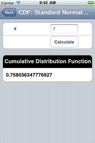 Gaussian Distribution iPhone Screenshot 5