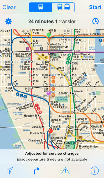 iTrans NYC Subway  Screenshot