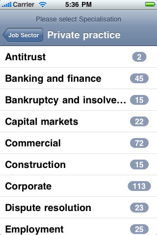 Legal Jobs Centre iPhone Screenshot 4