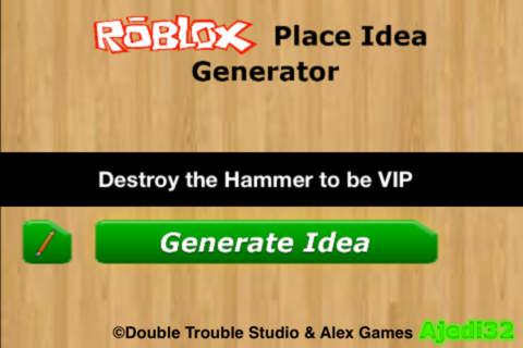 Idea Generator for ROBLOX