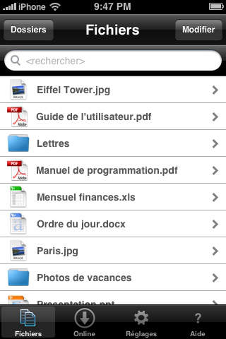 Disque-Online Mobile screenshot 1