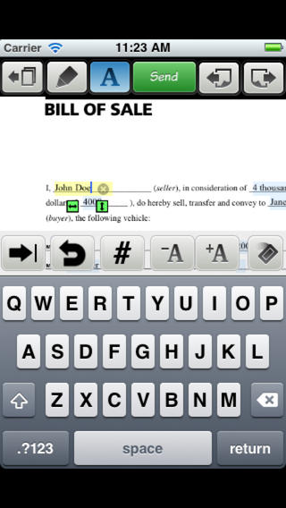 Logo for Type on PDF App for iOS