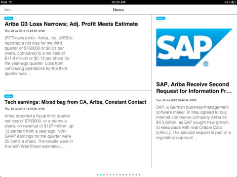 SAP Customer Insight for iPad