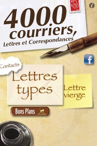 4000 Courriers lettres et correspondances