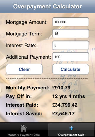 Clear Your Mortgage Calculator iPhone Screenshot 2