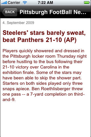 Pittsburgh FootBall News Updates screenshot 2