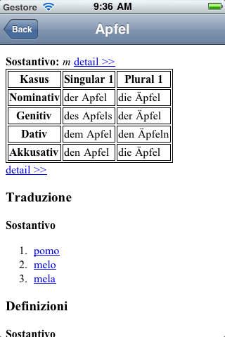 German-Italian Translate Dictionary iPhone Screenshot 3