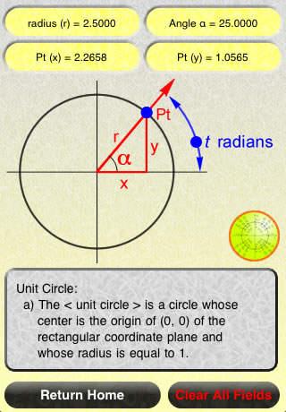 Interactive Trigonometry Calculator iPhone Screenshot 2