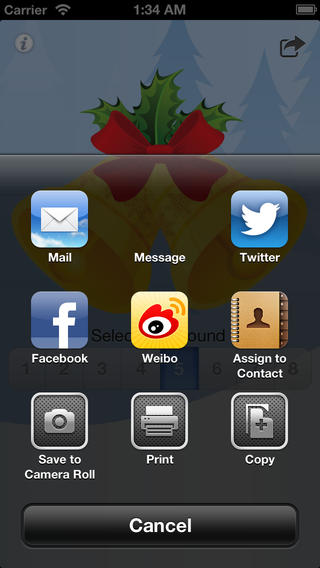 Christmas Bell Free iPhone Screenshot 2
