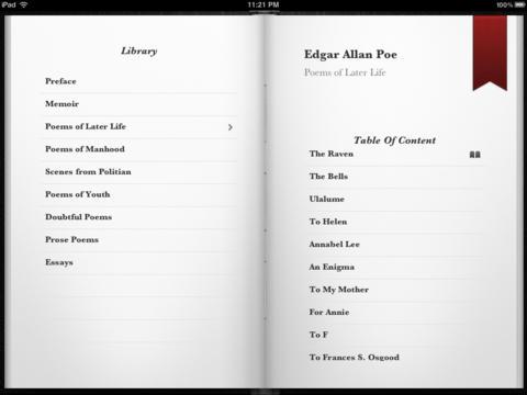 Edgar Allan Poe Collection for iPad