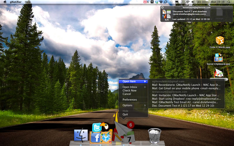 gNotifier Screenshot