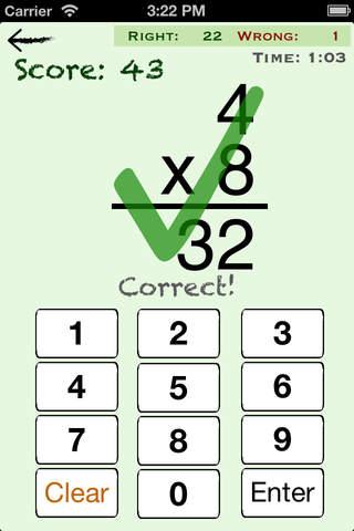 Screenshot 2 Mental Math Cards - Tips,  Fact Practice,  & Timed Challenge