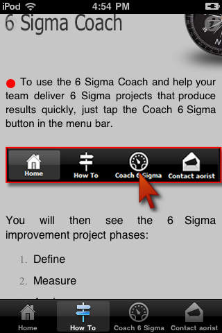 6 Sigma Coach for Sponsors