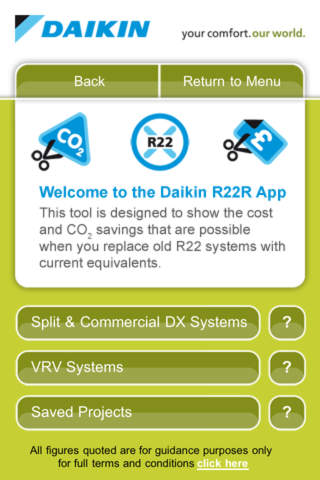 Daikin UK R22 Replacement Savings Calculator