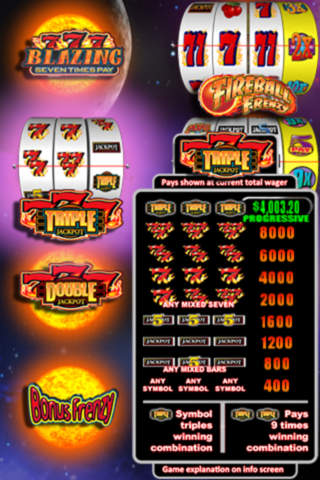 Fireball Slot Machine - 50 Free Slot Games by Bally Tech
