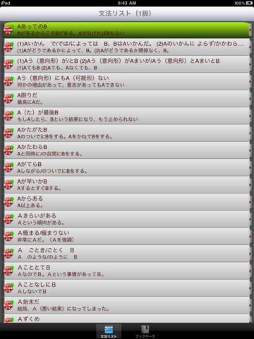 JLPT出題基準・文法(1級)for iPad