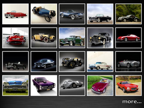 Classic Cars Wallpapers for new iPad - Great HD photo screen backgrounds of cool cars retro cars