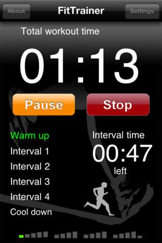 FitTrainer iPhone Screenshot 1