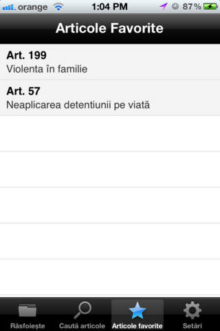 Screenshots #4. Codul Penal al Romaniei in vigoare / iOS