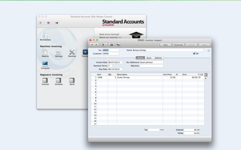 Standard Accounts 7.2 Screenshot - 2