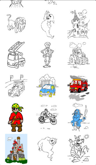 libro para colorear para los niños para el iPhone y el iPod con ...