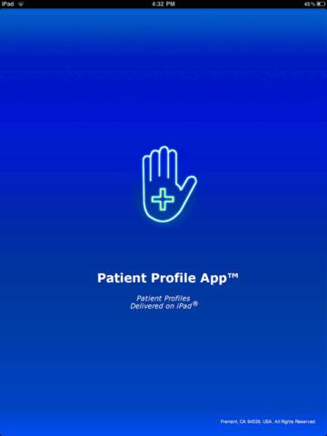 Patient Profile App for iPad