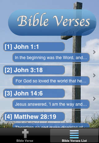 Screenshots of Bible Verses Free for iPhone