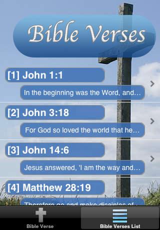 Bible Verses Free iPhone Screenshot 2
