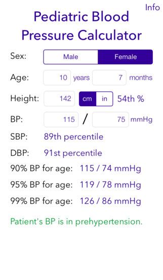 Screenshot for Pediatric BP Calculator in Malaysia App Store