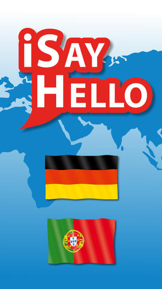 iSayHello German - Portuguese (Europe) iPhone Screenshot 1
