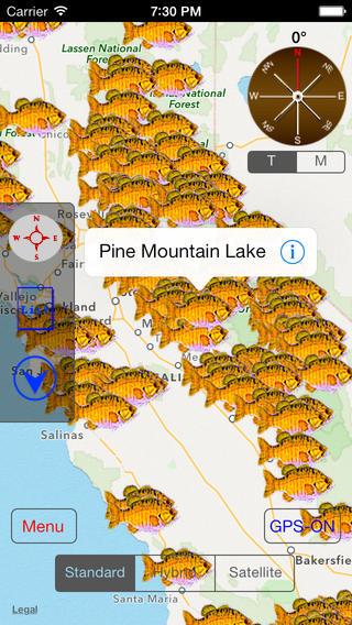 California: Fishing Lakes