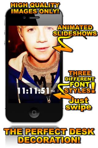 Niall Horan Desktop Clock