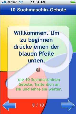 10Geboote der Suchmaschinen iPhone Screenshot 1