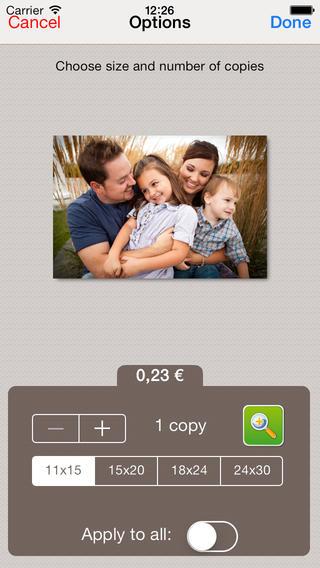 Photo printing with NicePrints