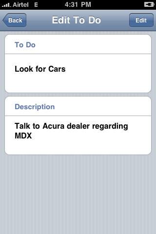 iToDo iPhone Screenshot 3