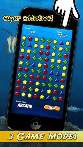 Aqua Jewel : An Addictive Bubble Breaker iPhone Screenshot 1