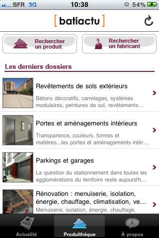 Batiactu iPhone Screenshot 3