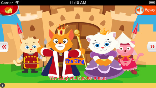 【免費書籍App】Four Princes and A Princess - An English Story for Kids-APP點子