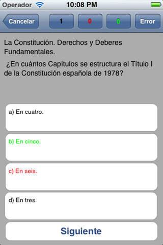 Test LITE General de Oposiciones iPhone Screenshot 1
