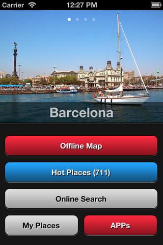 Barcelona Travel Map