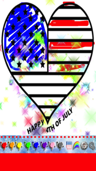 Independence Day Fireworks Coloring