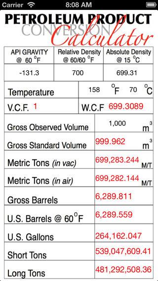 Petroleum Product Calculator