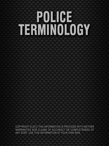 Police Terminology - HD